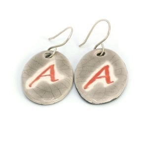 Scarlet A Grey Earrings