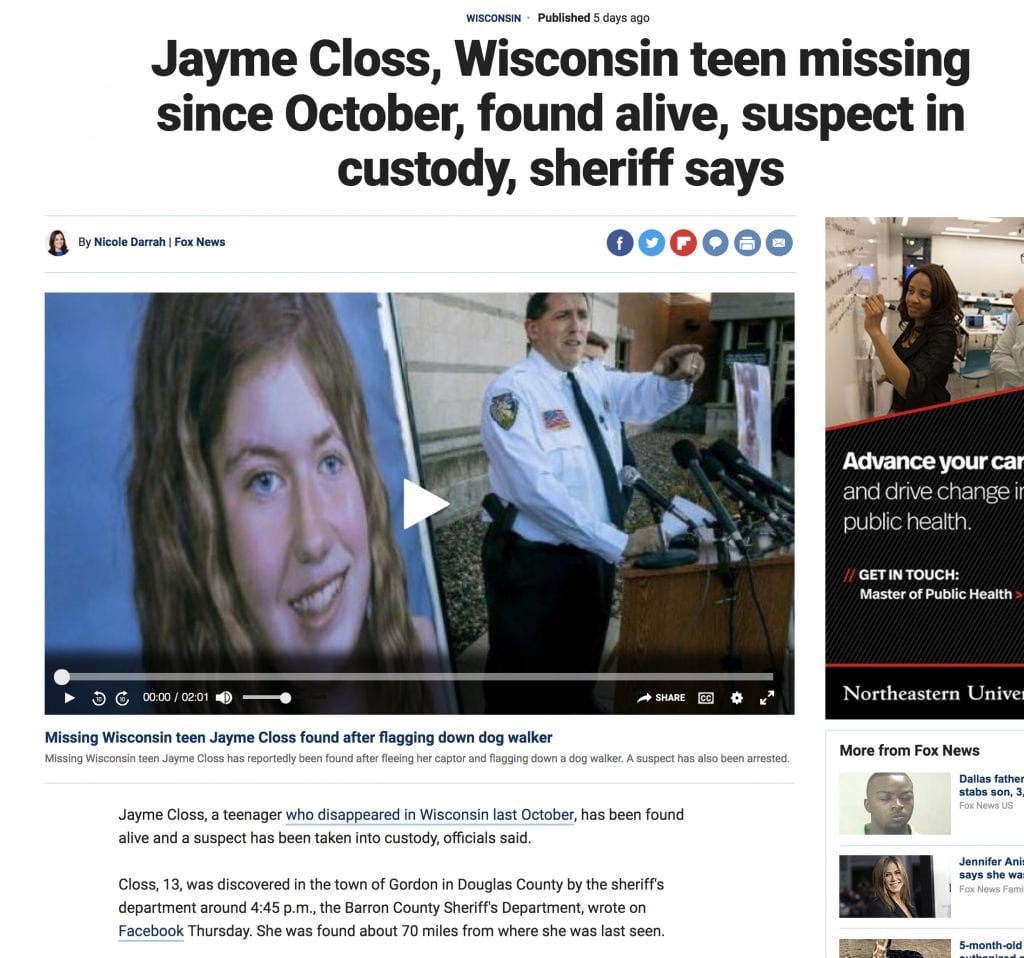 Another Abducted Girl, Another Psychic Fail | Center for Inquiry