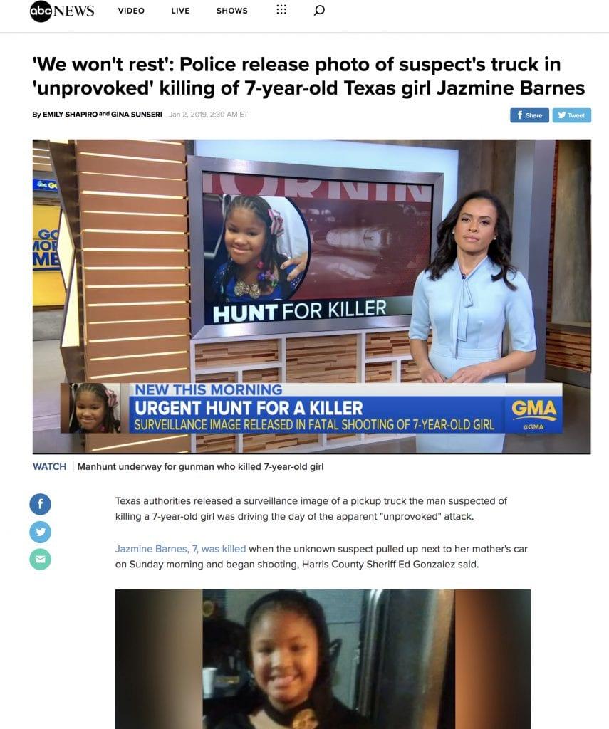 The Tragedy of Jazmine Barnes: Phantom Serial Killers and