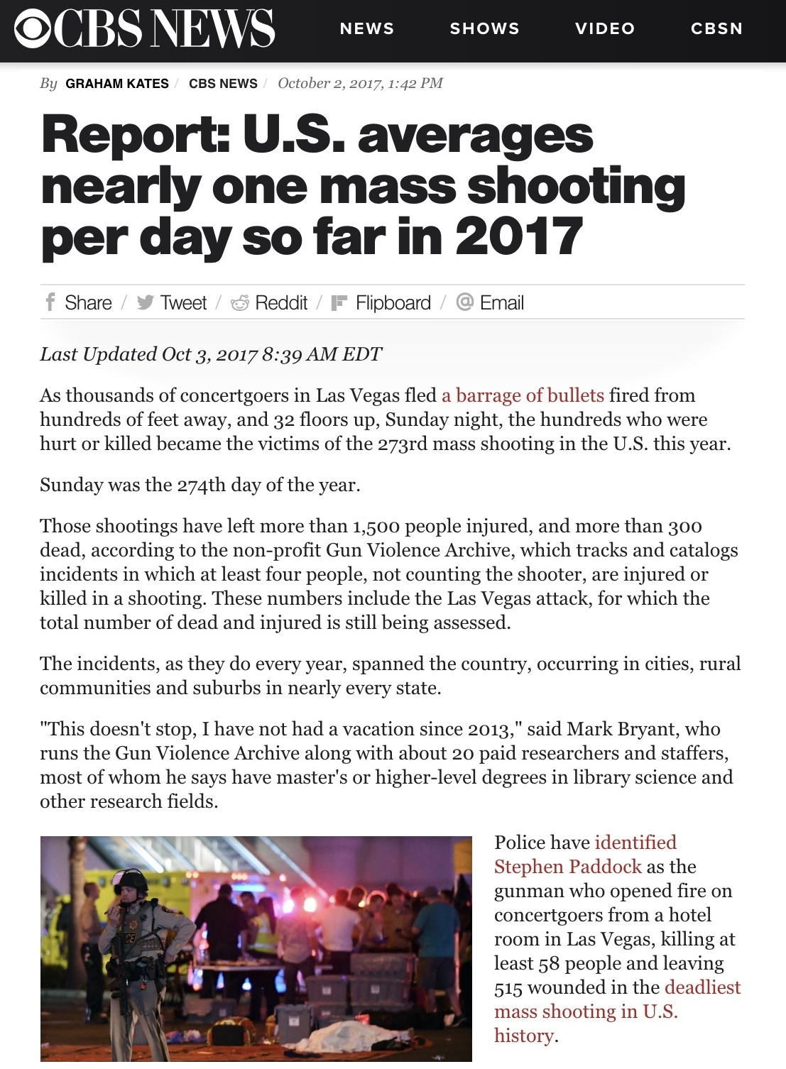 mass shooting cbs headline