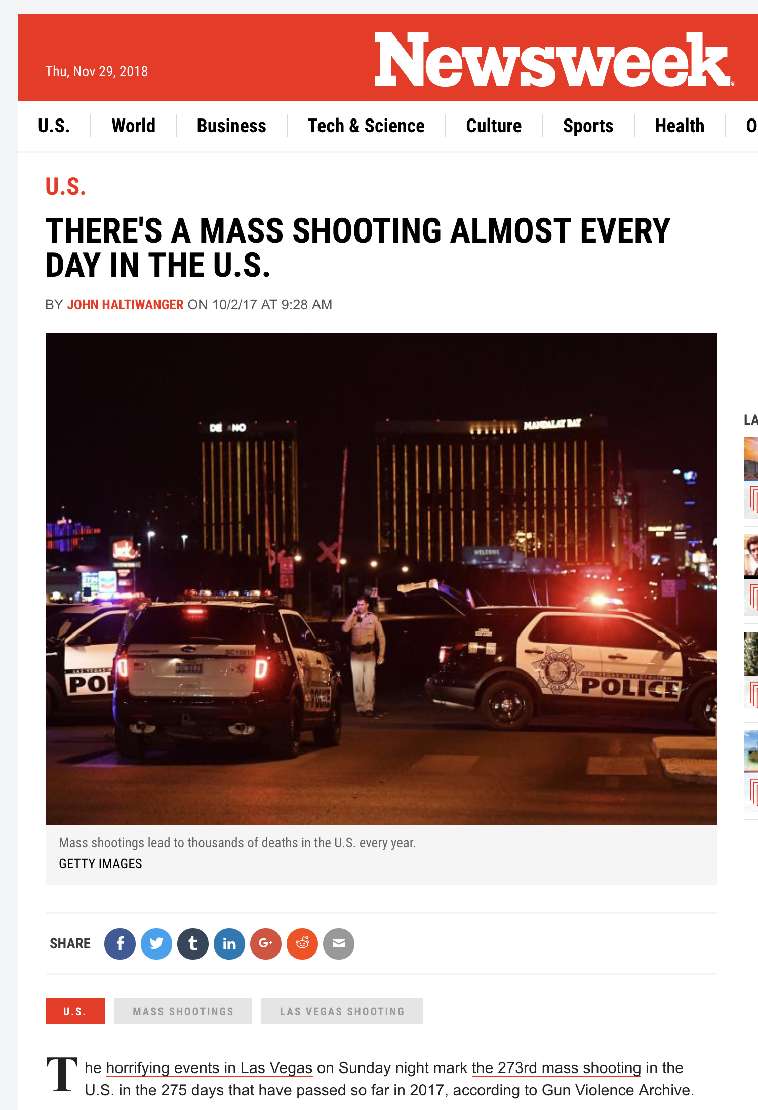 mass shooting common