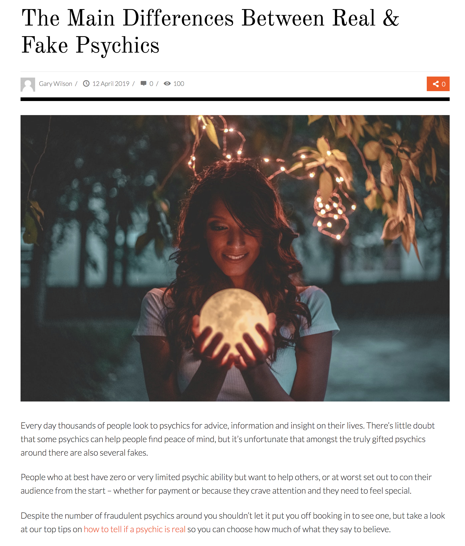 Telling 'Real' from 'Fake' Psychics | Center for Inquiry