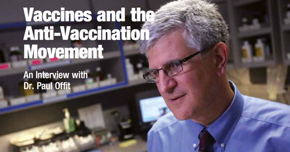 article title and photo of Dr. Paul Offit
