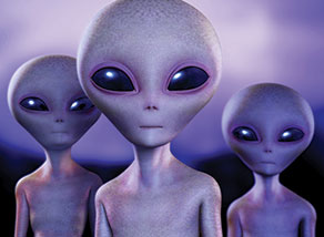 typical-looking aliens