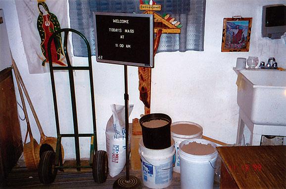 Dirt kept in a storeroom