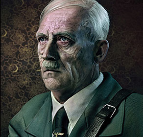 aged picture of Adolf Hitler