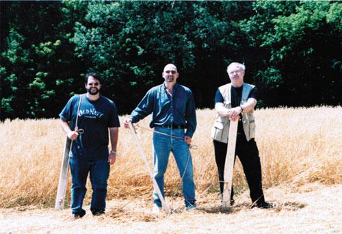 CSI team with crop circle making equipment