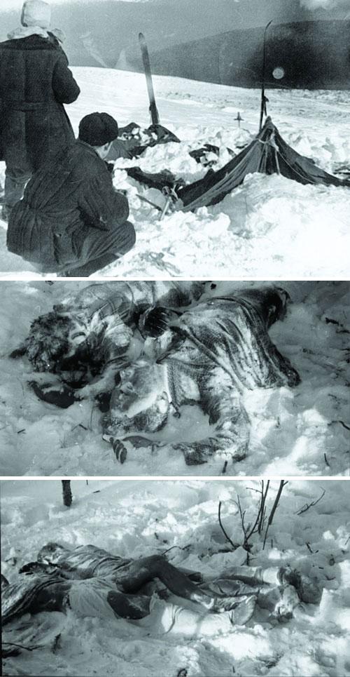 multiple photos of the Dyatlov party