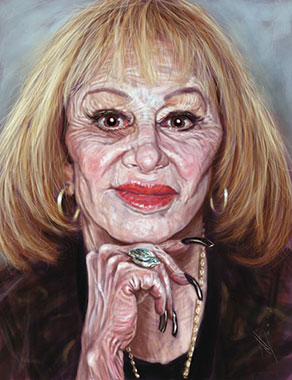 illustration of Sylvia Browne