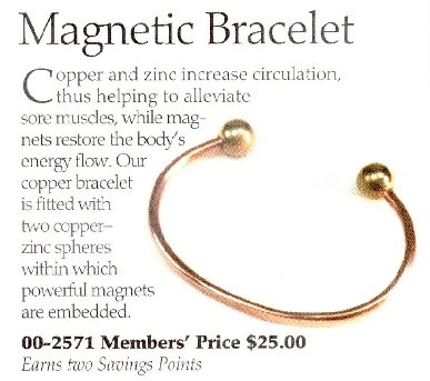 Questionable Ad For Magnetic Bracelet