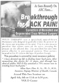 In March 2000 A Chiropractor And An Osteopath Who Practice Together Placed This Ad In The Morning Allentown Pennsylvania